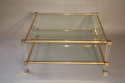 A good size two tier lucite and glass Pierre Vandel coffee table, French c1970 - picture 3