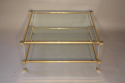 A good size two tier lucite and glass Pierre Vandel coffee table, French c1970 - picture 4