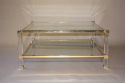 A good size two tier lucite and glass Pierre Vandel coffee table, French c1970 - picture 5