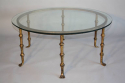 A Spanish gilt metal and glass circular coffee table. c1950 - picture 3
