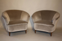 Vintage Italian 1950`s pair of velvet upholstered armchairs. - picture 2
