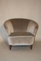 Vintage Italian 1950`s pair of velvet upholstered armchairs. - picture 3