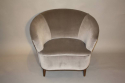 Vintage Italian 1950`s pair of velvet upholstered armchairs. - picture 4
