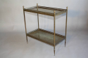 A gilt metal two tier side table, French c1950 - picture 2