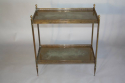 A gilt metal two tier side table, French c1950 - picture 4