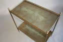 A gilt metal two tier side table, French c1950 - picture 5