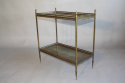 A gilt metal two tier side table, French c1950 - picture 6