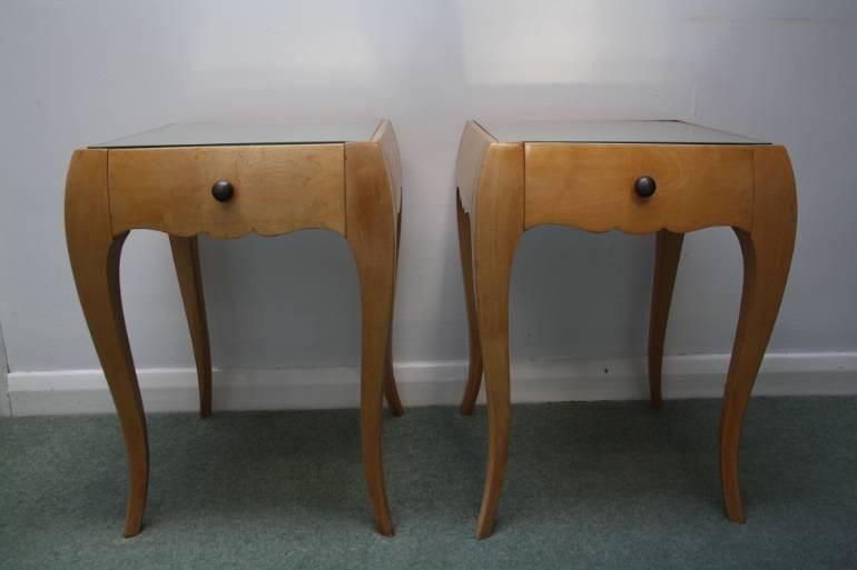 A Pair of Rene Prou Bedside Cabinets or Side Tables