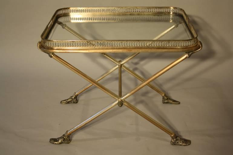 A charming silver tray table