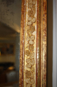 Antique French mirror with grape vine detail, c1870, original mercury glass - picture 1