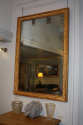 Antique French mirror with grape vine detail, c1870, original mercury glass - picture 2