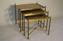 Gold glass nest of tables - picture 3