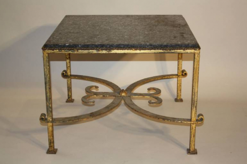 A square gilt metal coffee table, Spanish c1970