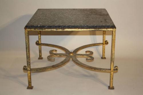 A square gilt metal coffee table, Spanish c1970