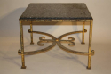 A square gilt metal coffee table, Spanish c1970 - picture 2