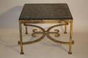 A square gilt metal coffee table, Spanish c1970 - picture 3