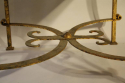 A square gilt metal coffee table, Spanish c1970 - picture 5
