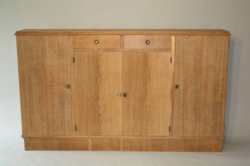Narrow Oak side cabinet, c1950
