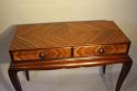 Herringbone inlaid wood table - picture 3