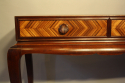 Herringbone inlaid wood table - picture 4
