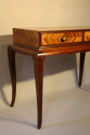 Herringbone inlaid wood table - picture 5