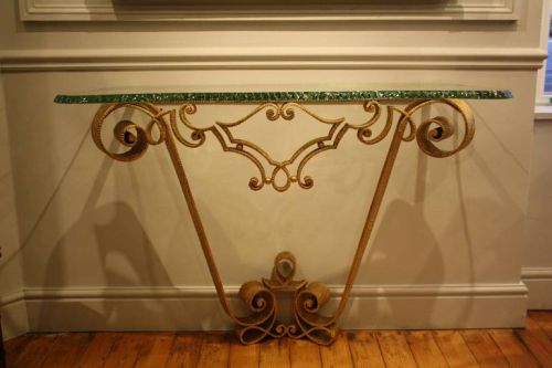 Gilt metal Pierre Luigi Colli console