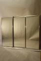 A silver aluminium triptych Brot style mirror. French c1950 - picture 1