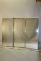 A silver aluminium triptych Brot style mirror. French c1950 - picture 2