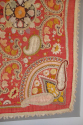 Early C20th beautifully detailed hand stitched Indian paisley textile - picture 4