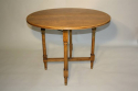 Circular folding four seat Walnut campaign table, French c1910 - picture 1
