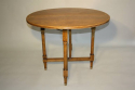 Circular folding four seat Walnut campaign table, French c1910 - picture 2