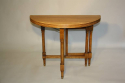 Circular folding four seat Walnut campaign table, French c1910 - picture 3