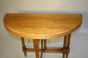Circular folding four seat Walnut campaign table, French c1910 - picture 4