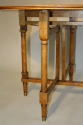 Circular folding four seat Walnut campaign table, French c1910 - picture 6