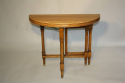 Circular folding four seat Walnut campaign table, French c1910 - picture 7