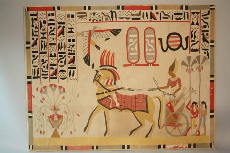 A large Egyptian applique textile