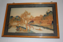 Pair of Chinese landscape carved wood pictures. Delicately executed c1920. - picture 2