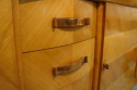Stunning French 1930`s Cherry wood parquetry credenza with original copper handles and key - picture 3