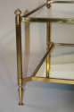 French 1950`s square two tier coffee table - picture 2