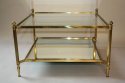 French 1950`s square two tier coffee table - picture 3