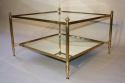 French 1950`s square two tier coffee table - picture 4