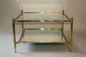French 1950`s square two tier coffee table - picture 5