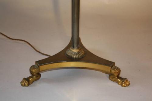 French 1950`s telescopic floor lamp