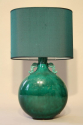 A jade green ceramic lamp by Paul Millais for Sevres, French c1950 - picture 1