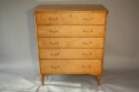 Satinwood chest of drawers - picture 2
