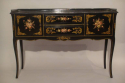 Black lacquer and hand painted side table, French C20th - picture 1