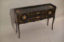 Black lacquer and hand painted side table, French C20th - picture 2