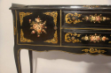 Black lacquer and hand painted side table, French C20th - picture 3