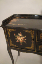 Black lacquer and hand painted side table, French C20th - picture 6
