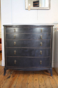 Ebonised chest with graduated drawers, French c1950 - picture 1